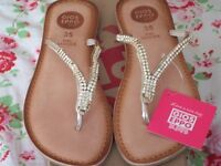 GIOSEPPO DIAMANTE SANDALS UNUSED UK 3 / EU 36