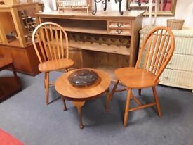Small occasional table with 2 x chairs