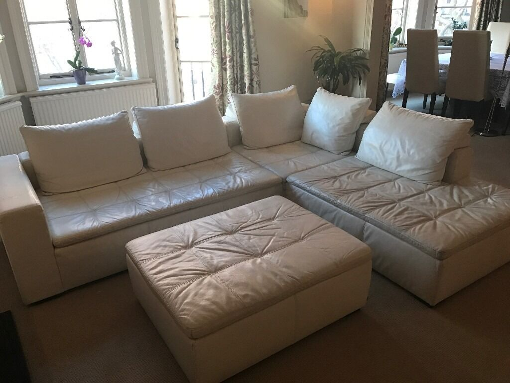 Bo Concept 2 000 Mezzo Leather Lounge Unit Sofa