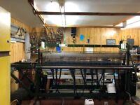 Double Width Loom for Harris Tweed weaving.