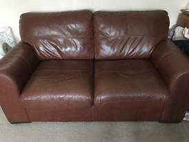 Genuine leather 2&3 seater sofas