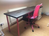 Ikea desk top & chair
