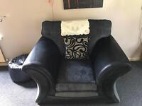 Two seater sofa and chair for sale