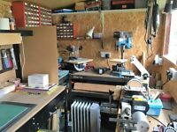 Shed/Workshop 8x4 Insulated, electrics, plus powertools