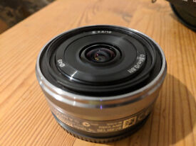Sony SEL16F28 16mm f/2.8 Wide-Angle Lens - great condition with original packaging