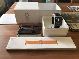 Boxed Apple Watch 42mm in Stainless Steel Series 1