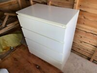 Ikea Malm 4 drawer in white