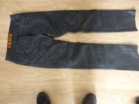 Ixon Rock Leather Motorbike Jeans
