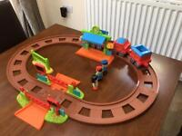 Elc happyland train and station with track great condition early learning centre