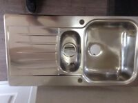 Stainless steel 1.5 bowl sink NEW