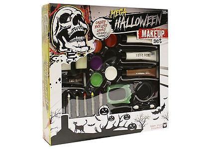 Zombie Maquillaje Halloween (Mega Halloween Pintura Facial Maquillaje & Horror Accesorios de Disfraz)
