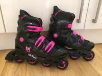 No Fear in-line roller blades size 5-8 (adjustable)