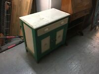 Retro green Chest/cupboard (delivery available)