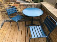 Outdoor table plus two chairs from habitat