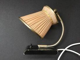 Original retro small bedside type light, 50s/60s. Good condition.
