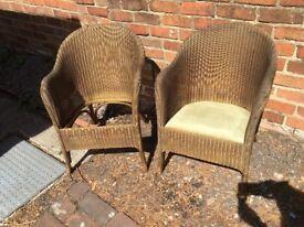 2 Lloyd Loom chairs for restoration