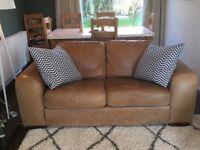 2 seater bespoke leather sofa