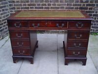 FREE DELIVERY Vintage Leather Top Desk Retro Furniture 9