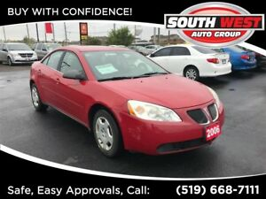 2006 Pontiac G6 Base  -LOW KMS, AUX, FUN TO DRIVE!