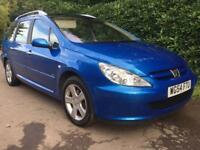 PEUGEOT 307 2.0 HDI **EXCELLENT CONDITION **ESTATE DIESEL** PANORAMIC ROOF** 12 MONTHS MOT**