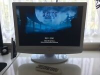 "White Technika 22"" HD TV + Built in DVD Player + FREEVIEW - Also PC Monitor - Excellent Condition"