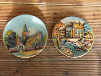 Old Orkney Cathedral 3 D Wall Plaques and House by river