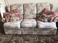 3 Piece Suite, Armchair & Reclining Armchair