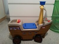 Little Tikes ride along pirate ship
