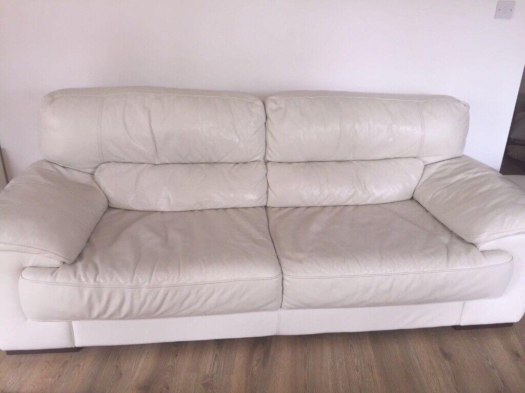 Miraculous Violino White Leather Sofa Suite In Barnet London Gumtree Machost Co Dining Chair Design Ideas Machostcouk