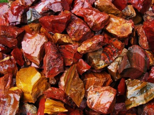 3000 Carat Lots of Red Jasper Rough + a FREE Faceted Gemstone