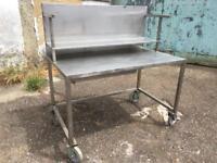 Stainless steel workbench tig welded garage workshop