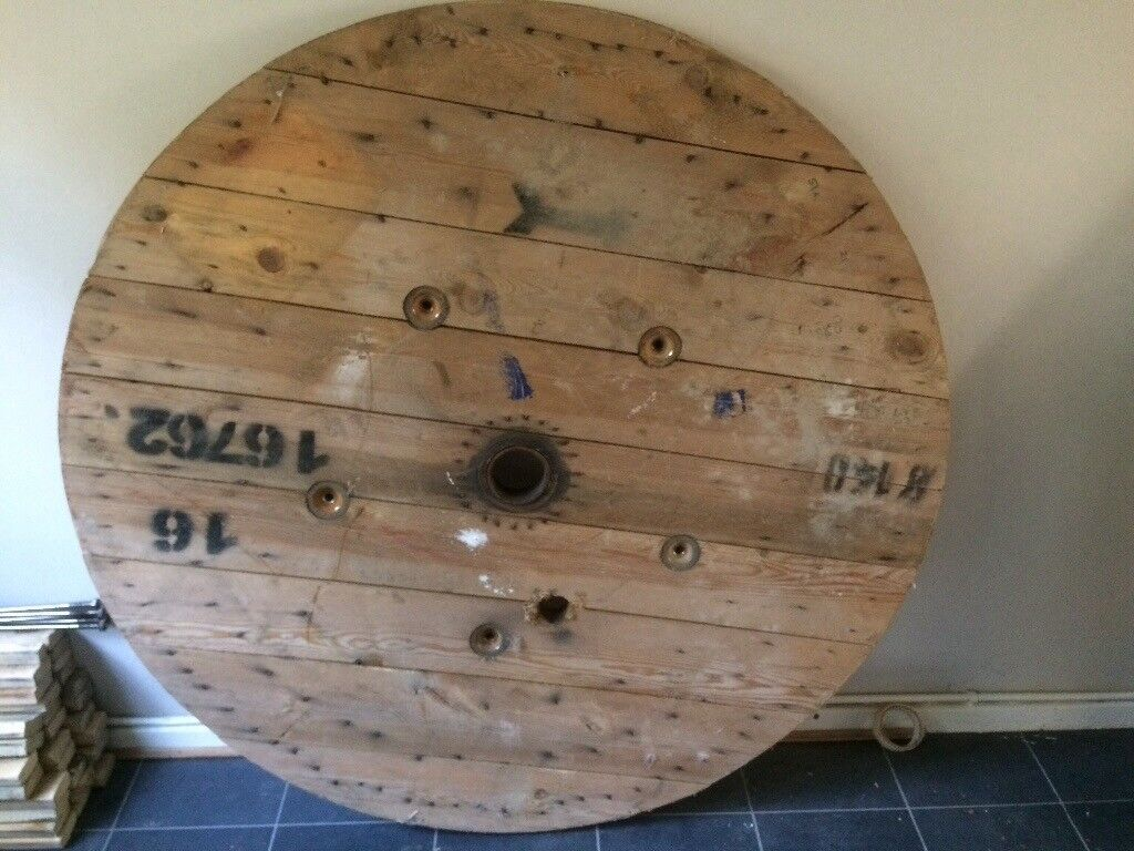 Cable Reel End/Top, ideal as industrial themed table etc