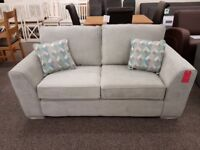 Ex Display 2.5 Seater Light Grey Fabric Sofa **CAN DELIVER**