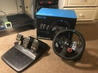 Logitech G29 steering wheel + shifter. Very good condition. For PS4 or PC.