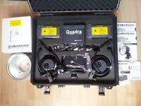 BRAND NEW Elinchrom Ranger Quadra Hybrid RX 2 Head 'A' Kit Li-ion + FREE items
