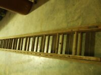 WOODEN DOUBLE LADDERS