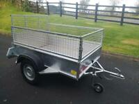 Trailer 6x4 galvanised with mesh