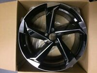"NEW 4x 18"" inch Audi Rotor Twist Arm Alloy Wheels BLACK A3 A4 A5 RS3 RS4 RS5 RS6 S5 S3 S4 TTRS wrz2w"