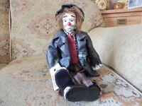 Porcelain clowns set of 4