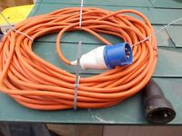 25m orange camping hook up cable