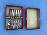 FREE Silver plated / EPNS tea spoons x 6 - COLLECTION ONLY - Morden SM4