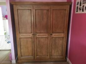 Wardrobe and matching dressing table