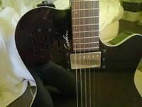 Godin Ultra A6 black high gloss with padded Godin gig-bag