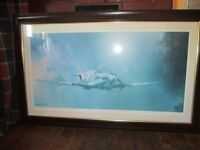 Lovely Spitfire picture, by Barrie Clark, in a quality frame