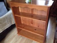 Bookcase solid pine 2 height adjustable shelves, in good condition. 100 cm tall. Macclesfield area.