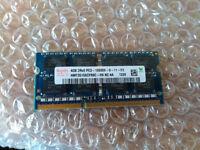 Hynix PC3-10600 1333mhz DDR3 SDRAM SODIMM Laptop memory 4Gb