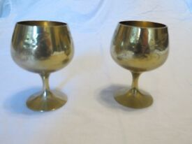 2 Small EPNS Goblets