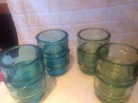 Green x4 and Blue x4 Tea Light Holders