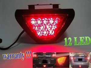 12-LED-F1-style-Rear-Tail-Brake-Stop-Light-Third-Red-Strobe-safety-Fog-DRL-Lamp