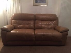 *Leather recliner sofa*